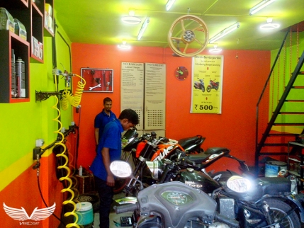 A Running Fully Equipped Two Wheeler Service Center for Sale in Goa