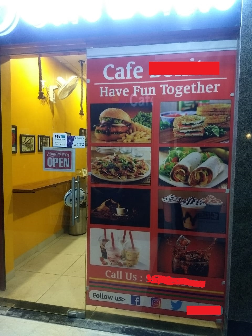 Running Fast Food Cafe for Sale in Noida