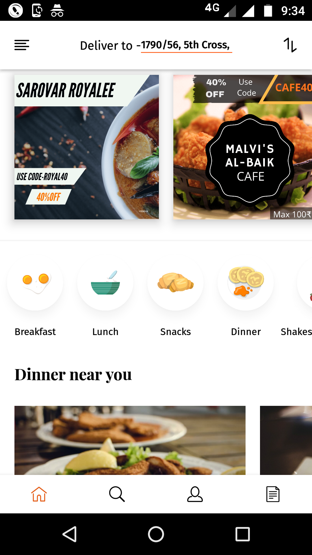 Online Food Ordering Android and Ios Application for Sale
