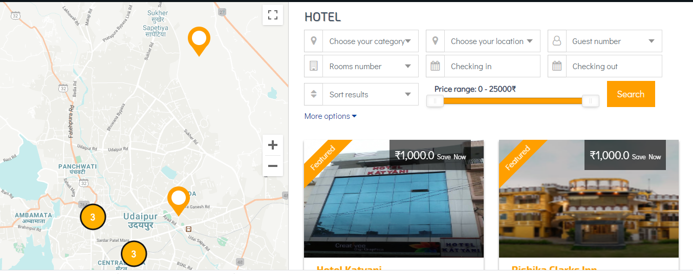 Udaipur Hotel Booking Website for Sale