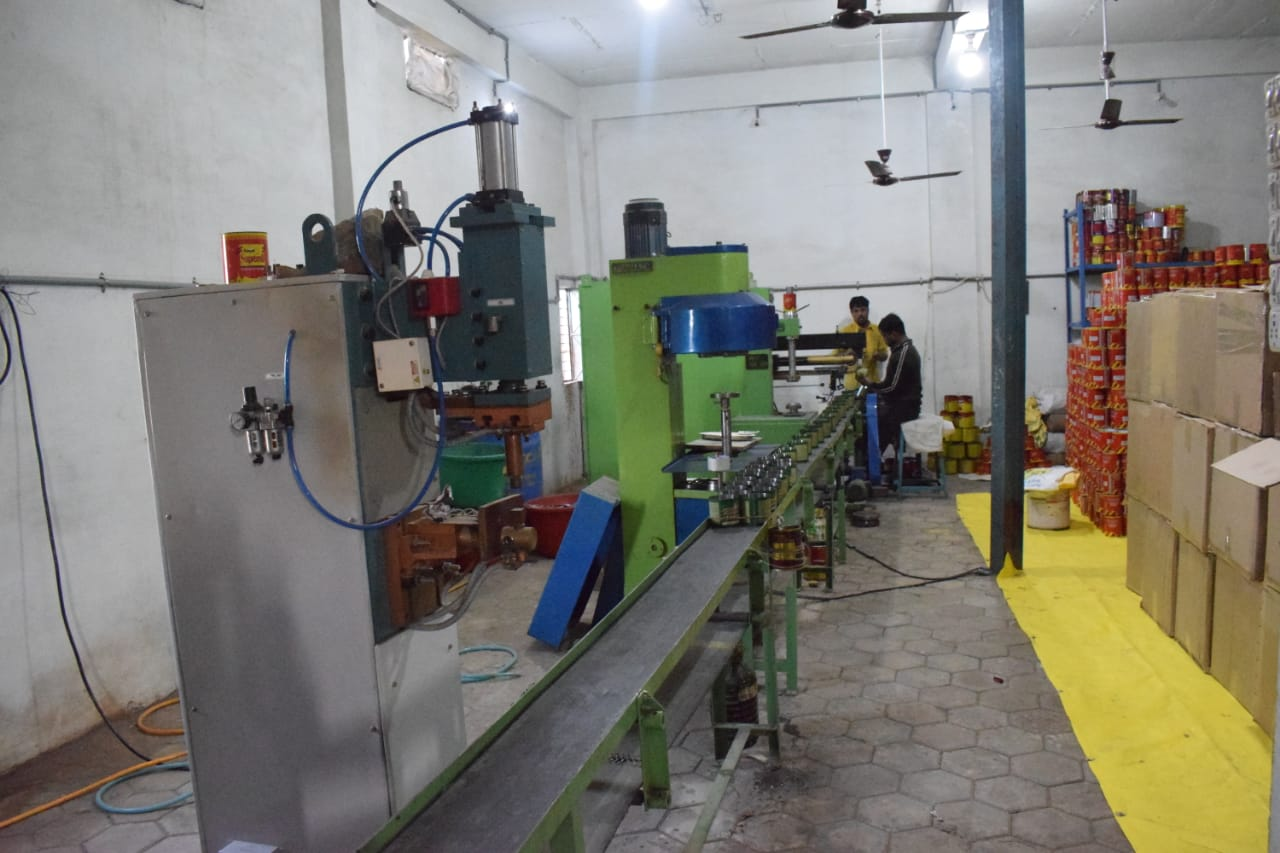 Fully Established Tin Container Manufacturing Unit for Sale in Indore